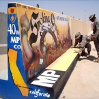 Side view of 40th Military Police mural in Kuwait.
