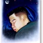 Oil painting of Tom sleeping, 1998.